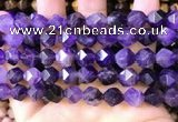 CNG8702 15.5 inches 10mm faceted nuggets amethyst gemstone beads