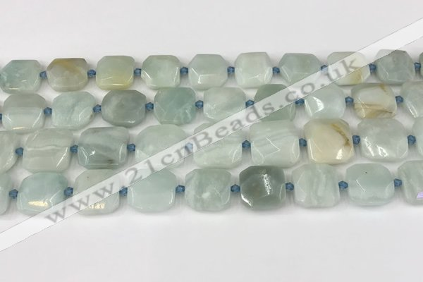 CNG8815 15.5 inches 16mm - 20mm faceted freeform amazonite beads