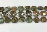 CNG8822 15.5 inches 16mm - 20mm faceted freeform rhyolite beads