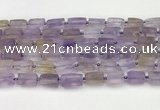 CNG8847 15.5 inches 8*12mm - 10*16mm nuggets matte ametrine beads