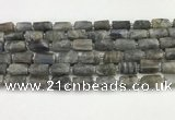 CNG8862 15.5 inches 8*12mm - 10*16mm nuggets matte labradorite beads