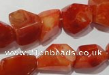 CNG900 15.5 inches 12*18mm – 18*24mm faceted nuggets red agate beads