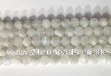 CNG9052 15.5 inches 10mm faceted nuggets white moonstone gemstone beads