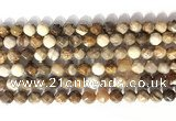 CNG9090 15.5 inches 8mm faceted nuggets coral jade gemstone beads