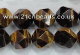 CNG940 15 inches 16mm faceted nuggets yellow tiger eye beads