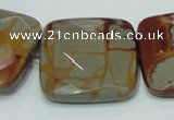 CNJ17 15.5 inches 30*30mm faceted square natural noreena jasper beads