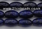CNL1158 15.5 inches 10*16mm rice lapis lazuli gemstone beads