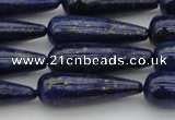 CNL1161 15.5 inches 10*30mm teardrop lapis lazuli gemstone beads