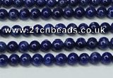 CNL1251 15.5 inches 4mm round natural lapis lazuli beads