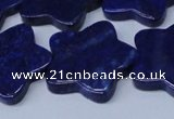 CNL1287 15.5 inches 28mm star natural lapis lazuli beads