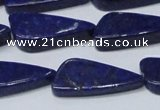 CNL1298 15.5 inches 12*28mm triangle natural lapis lazuli beads