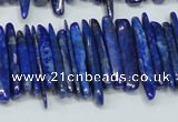 CNL1314 15.5 inches 3*25mm - 4*35mm wand natural lapis lazuli beads