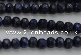 CNL1401 15.5 inches 3*5mm faceted rondelle lapis lazuli beads