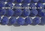 CNL1665 15.5 inches 6mm faceted nuggets matte lapis lazuli beads