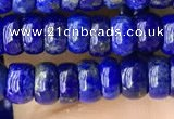 CNL1692 15.5 inches 2.5*5mm - 4*6mm rondelle lapis lazuli beads