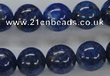 CNL228 15.5 inches 14mm round natural lapis lazuli beads wholesale