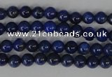 CNL401 15.5 inches 4mm round natural lapis lazuli gemstone beads