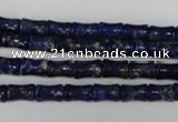 CNL432 15.5 inches 5*7mm bone natural lapis lazuli gemstone beads