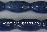 CNL445 15.5 inches 15*30mm rice natural lapis lazuli gemstone beads
