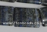 CNL547 15.5 inches 22*30mm flat tube natural lapis lazuli gemstone beads