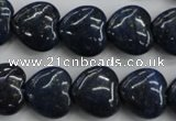 CNL935 15.5 inches 16*16mm heart natural lapis lazuli gemstone beads