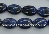 CNL942 15.5 inches 12*16mm oval natural lapis lazuli gemstone beads