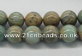 CNS03 16 inches 12mm round natural serpentine jasper beads wholesale