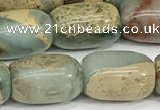 CNS311 15.5 inches 10*14mm drum serpentine jasper beads