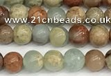 CNS330 15.5 inches 4mm round serpentine jasper beads wholesale