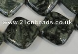 CNS432 15.5 inches 20*20mm diamond natural serpentine jasper beads