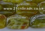 CNS673 15.5 inches 15*20mm rectangle green dragon serpentine jasper beads
