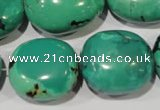 CNT269 15.5 inches 20*22mm - 26*30mm nuggets natural turquoise beads