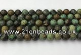 CNT412 15.5 inches 10mm round natural turquoise beads wholesale