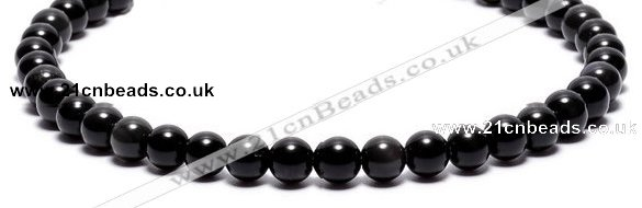 COB01 15 inches 6mm round black obsidian gemstone beads wholesale