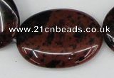 COB102 15.5 inches 30*40mm oval mahogany obsidian beads