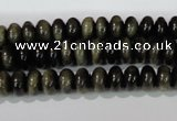COB260 15.5 inches 5*8mm rondelle golden obsidian beads wholesale