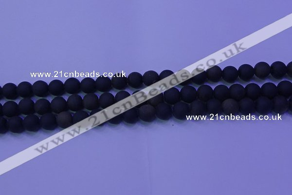 COB278 15.5 inches 6mm round matte golden obsidian beads wholesale