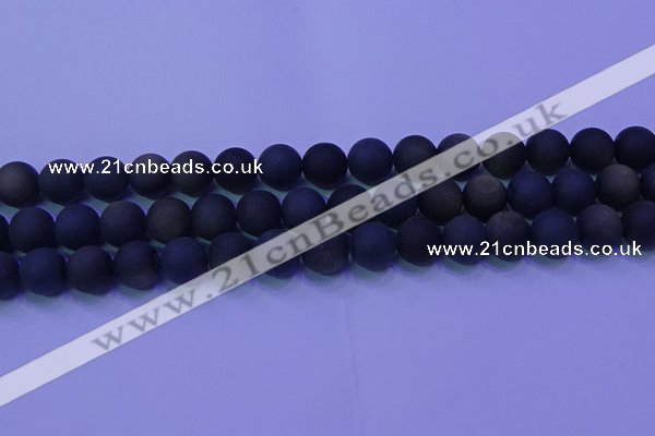 COB280 15.5 inches 10mm round matte golden obsidian beads wholesale