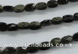 COB400 15.5 inches 5*7mm faceted oval black obsidian beads