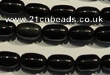 COB461 15.5 inches 8*12mm drum black obsidian beads wholesale