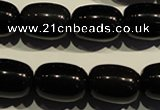COB464 15.5 inches 13*18mm drum black obsidian beads wholesale