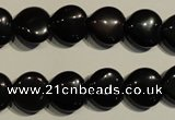 COB466 15.5 inches 8*8mm heart black obsidian beads wholesale
