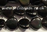 COB467 15.5 inches 10*10mm heart black obsidian beads wholesale
