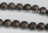 COB553 15.5 inches 10mm round red snowflake obsidian beads wholesale
