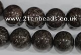 COB556 15.5 inches 16mm round red snowflake obsidian beads wholesale