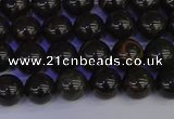 COB651 15.5 inches 6mm round gold black obsidian beads wholesale