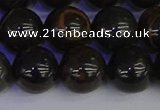 COB655 15.5 inches 14mm round gold black obsidian beads wholesale