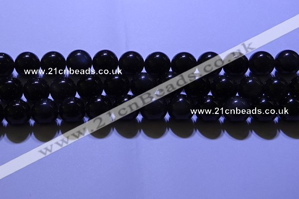 COB705 15.5 inches 14mm round ice black obsidian beads wholesale