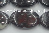 COJ03 15.5 inches 22*30mm oval blood jasper gemstone beads