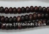 COJ10 15.5 inches 5*8mm rondelle blood jasper gemstone beads